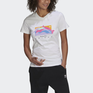 Women Originals White Fakten Graphic T-Shirt