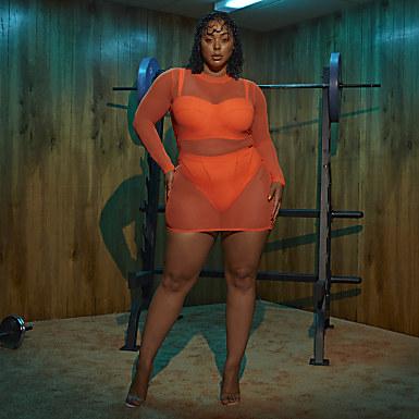 Swim Cover-Up Dress (Plus Size)