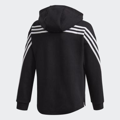 Chaqueta con capucha Full-Zip 3 bandas Negro Niña Training