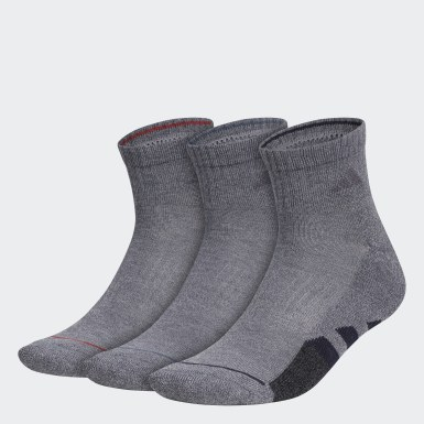Men's Training Grey Cushioned 2.0 Color Quarter Socks 3 Pairs