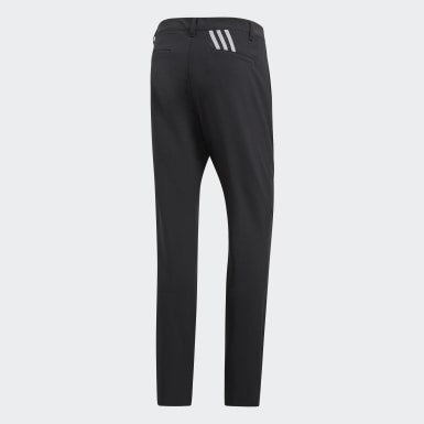 Pantaloni Ultimate 365 3-Stripes Tapered Nero Uomo Golf