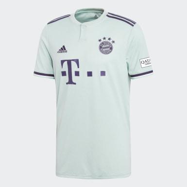 Männer Fußball FC Bayern München Auswärtstrikot Türkis