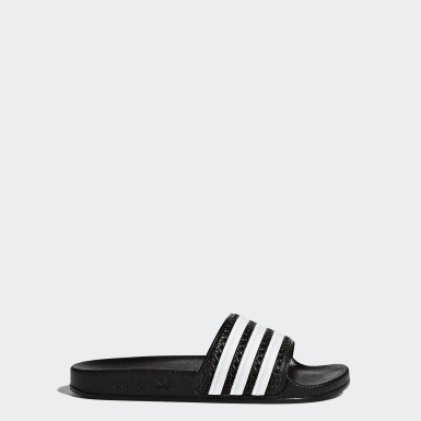 Youth 8-16 Years Originals Black adilette Slides