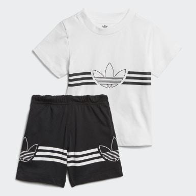 เด็ก Originals สีขาว ชุดเสื้อยืดและกางเกง Outline