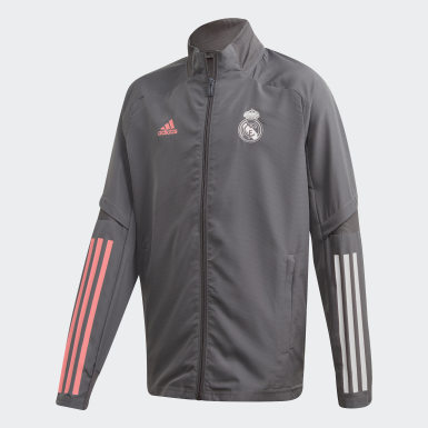 Youth 8-16 Years Football Grey Real Madrid Presentation Track Top