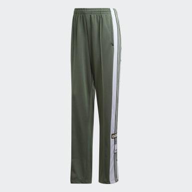Pants Adibreak - Corte Medio Verde Mujer Originals