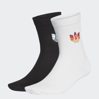 Chaussettes mi-mollet fine 3D Trefoil 2 paires blanc Originals