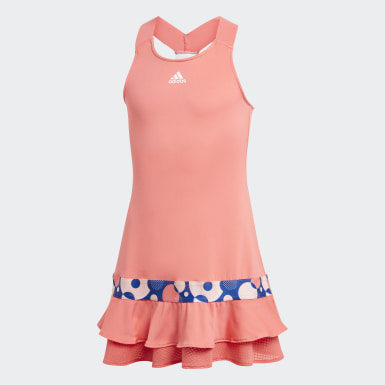 Robe Frill Rouge Filles Tennis