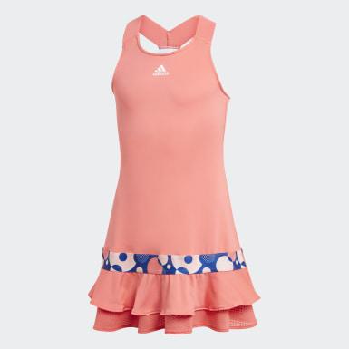 Dievčatá Tenis červená Šaty Frill