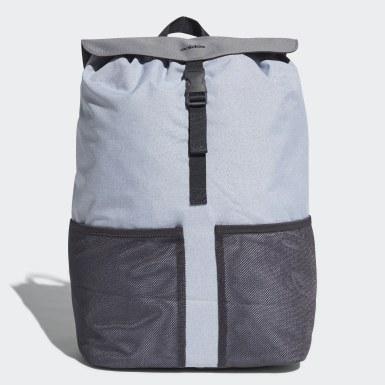 серый Рюкзак с клапаном