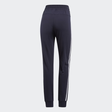 Women Lifestyle Blue Essentials 3-Stripes Pants