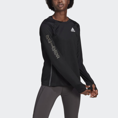 Maglia Reflective Long Sleeve Nero Donna Running