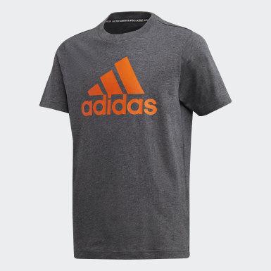 Camiseta Must Haves Badge of Sport Gris Niño Sport Inspired