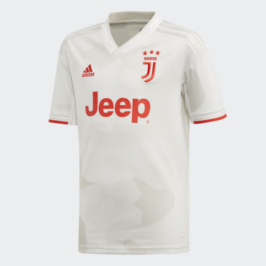 Boys Football White Juventus Away Jersey