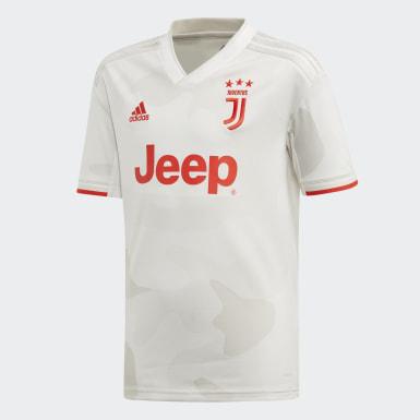 Boys Fodbold Hvid Juventus udebanetrøje