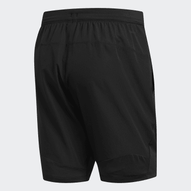 ผู้ชาย โยคะ สีดำ กางเกงผ้าทอขาสั้น 4KRFT Sport