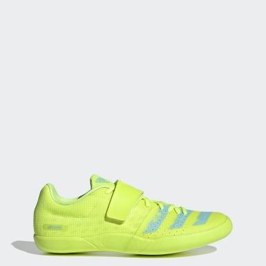 Track & Field Yellow Adizero Discus / Hammer Shoes