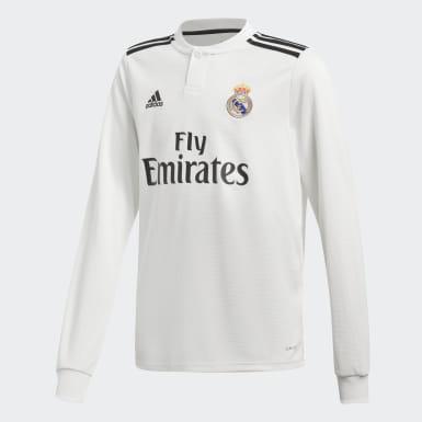 Barn Fotboll Vit Real Madrid Hemmatröja