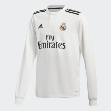 Kinderen Voetbal Wit Real Madrid Thuisshirt