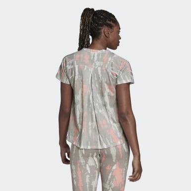 Playera Allover Print Blanco Mujer adidas by Stella McCartney