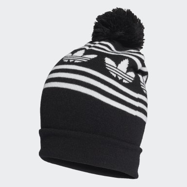 Originals Black Adicolor Jacquard Pompom Beanie