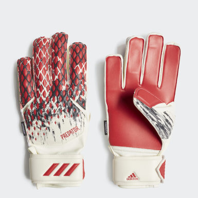 Kids Football White Predator 20 Fingersave Manuel Neuer Gloves