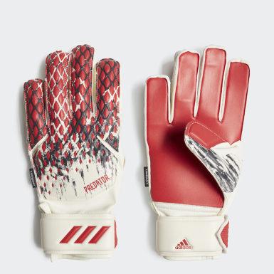 красный Вратарские перчатки Predator 20 Fingersave Manuel Neuer