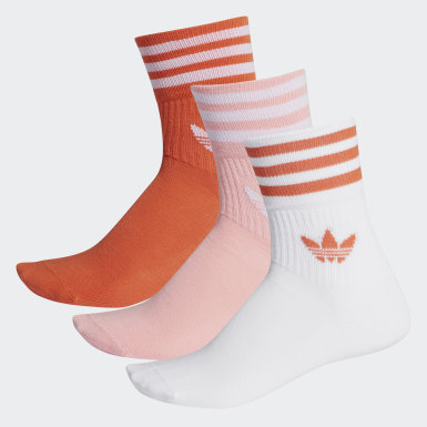 Originals Mid-Cut Crew Socken, 3 Paar Rot