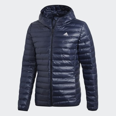 Puchowa kurtka z kapturem Varilite Niebieski