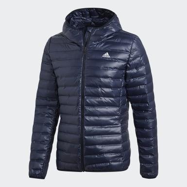 Männer Urban Outdoor Varilite Hooded Daunenjacke Blau