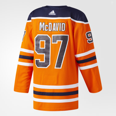 Hockey Orange Oilers McDavid Home Authentic Pro Jersey