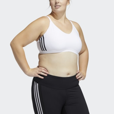 Women's Training White All Me Branded Bra (Plus Size)