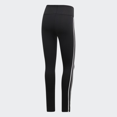 Calzas Largas Design 2 Move 3 Tiras - Tiro Alto Negro Mujer Training