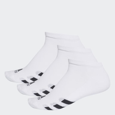 ผู้ชาย กอล์ฟ สีขาว ถุงเท้าซ่อนขอบ (3 คู่)