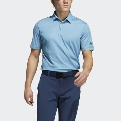 Men Golf Blue Camo Polo Shirt