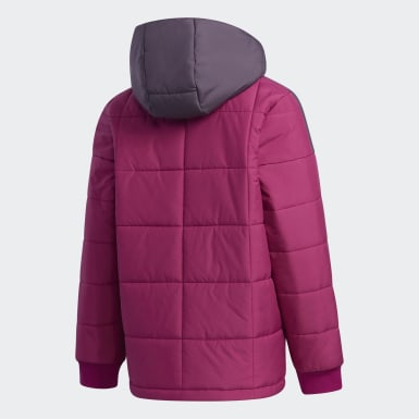 Girls Training Purple Midweight Padded Jacket