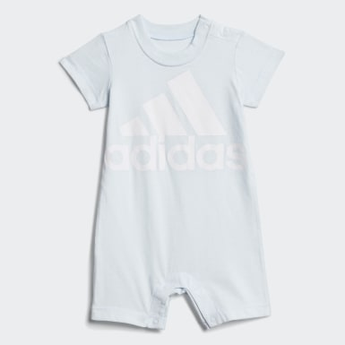 Infant & Toddler Training Blue Shortie Cotton Romper