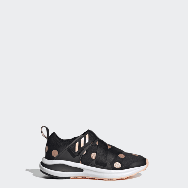 Children Running Black FortaRun X PolkaDot K