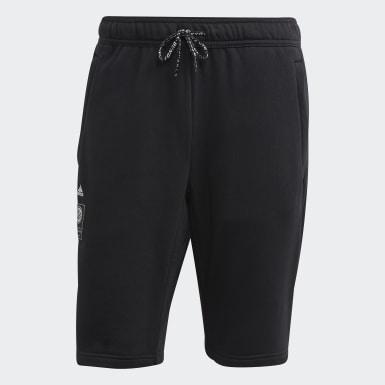 Männer Fußball DFB Sweat Shorts Schwarz
