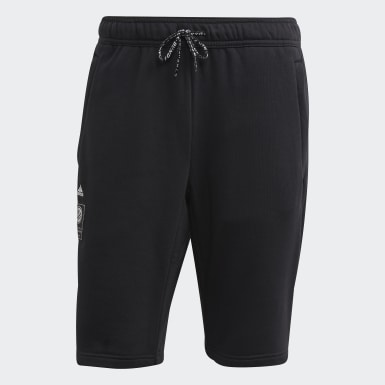 Men Football Black Germany Sweat Shorts