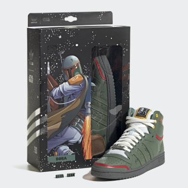 Chaussure Top Ten Hi Star Wars Vert Originals