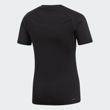 T-shirt Alphaskin Sport Noir Garçons Yoga