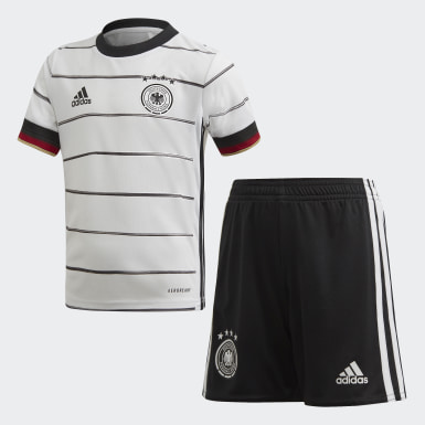 Tyskland hjemmedrakt, mini Hvit