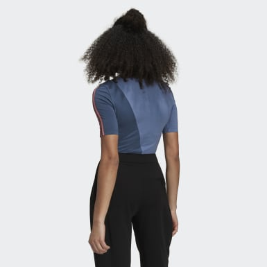 Dam Originals Blå Adicolor Sliced Trefoil Bodysuit