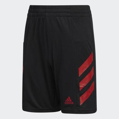 Short Pro Sport3-Stripes noir Enfants Entraînement