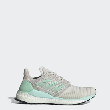 Women Running Grey Solar Boost Shoes