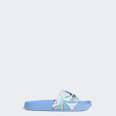 Kids Swimming Blue Adilette Shower Slides