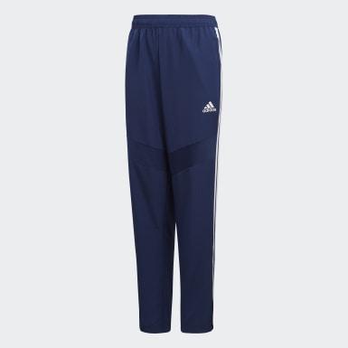 Børn Træning Blå Tiro 19 Woven bukser