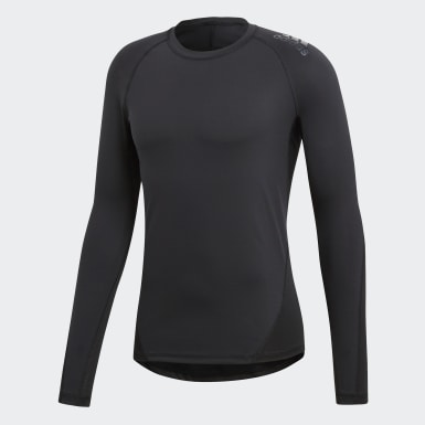 Men Training Black Alphaskin Sport Tee
