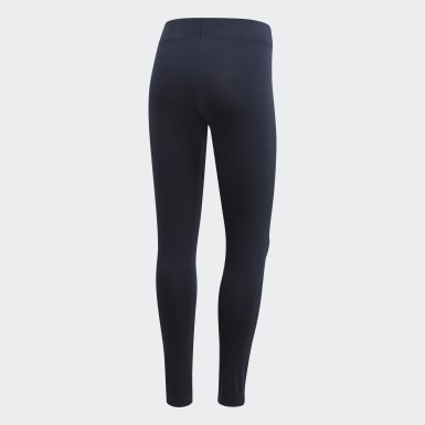 Women Athletics Blue Essentials Linear Leggings